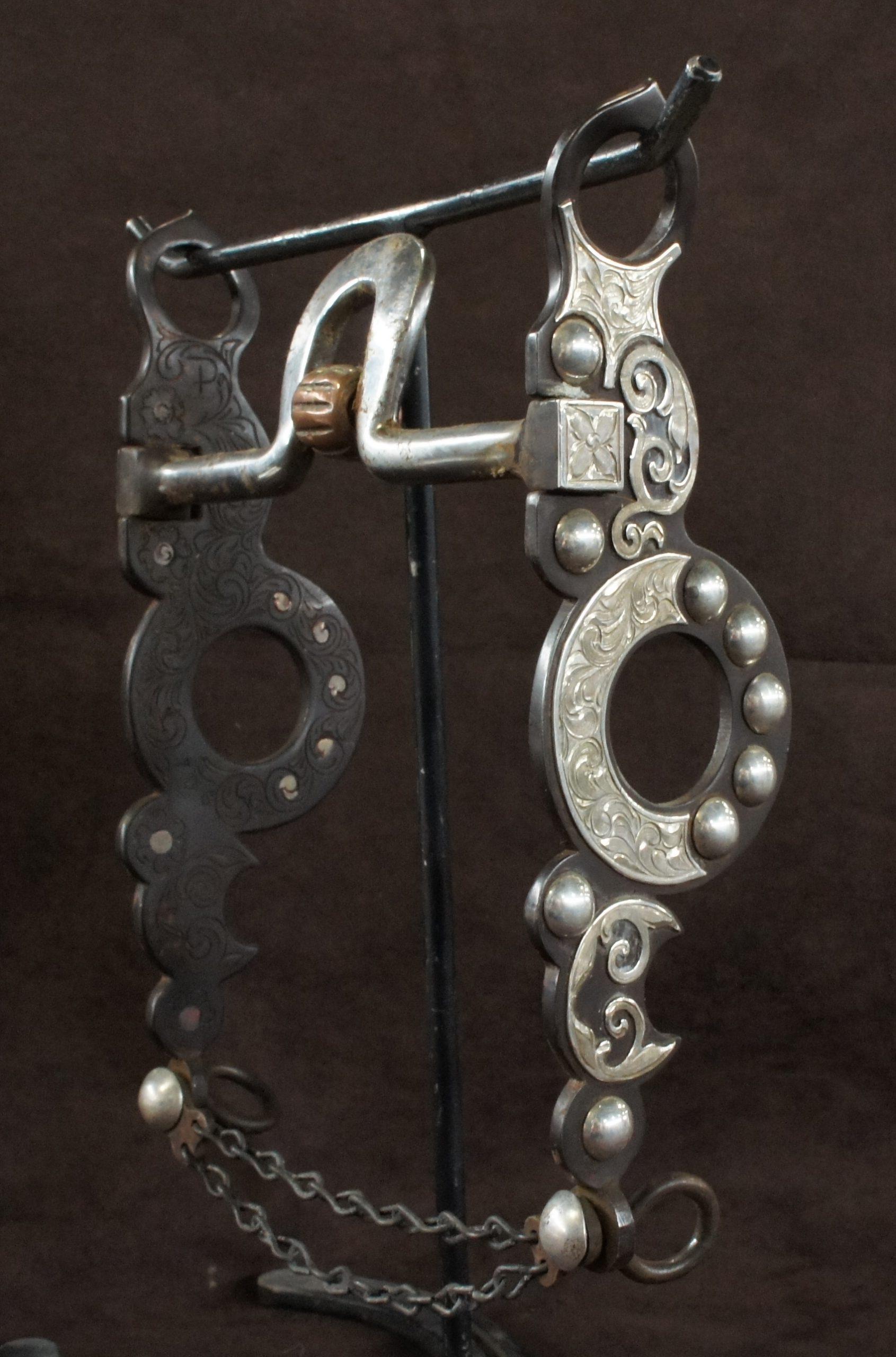 Silver Cow Horse Bit 5054