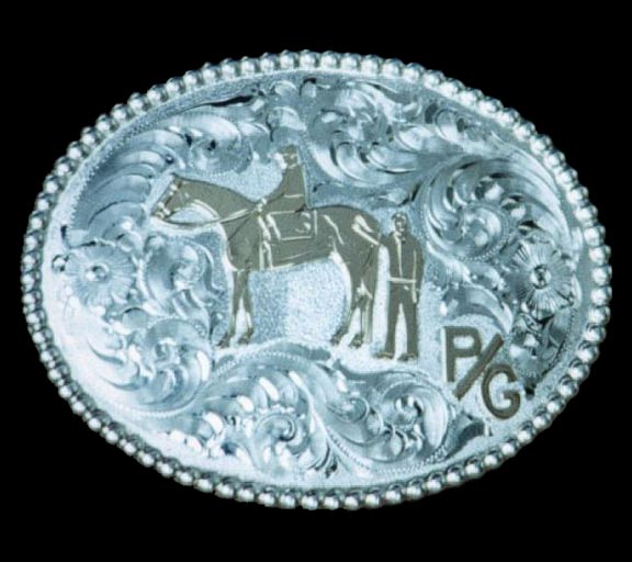 Western Buckle - Sterling Silver Engraving