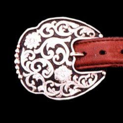 Women's Western Silver Buckle Set