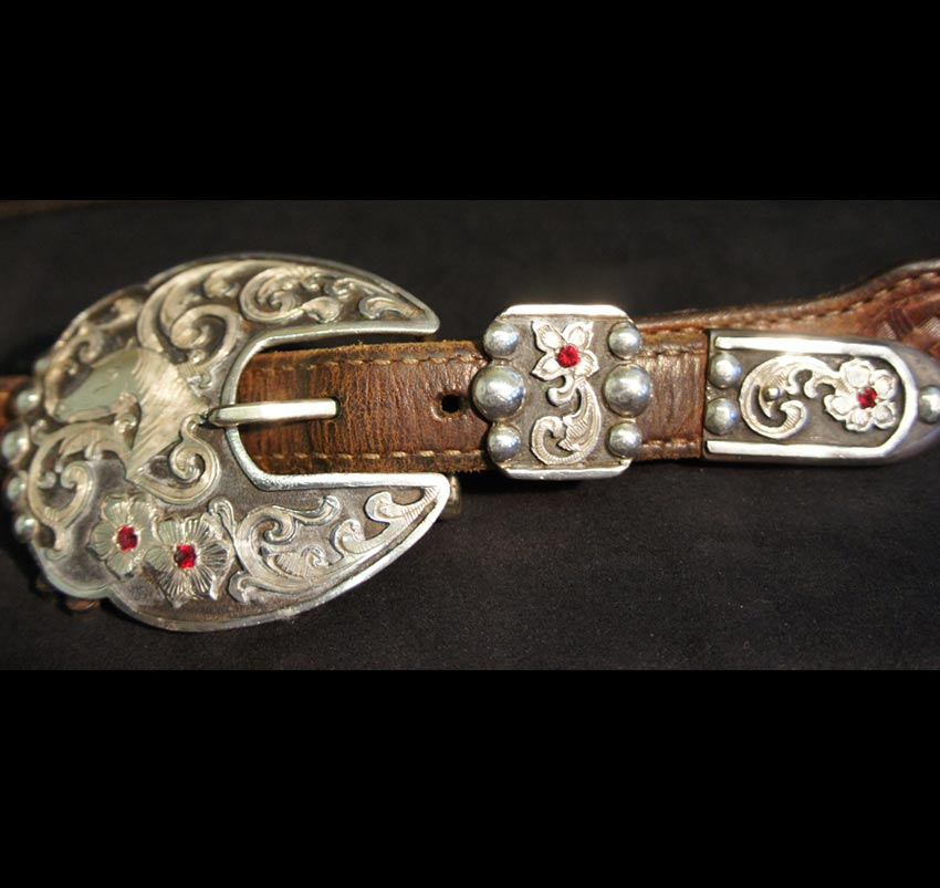 Women's Western Buckle – Horse, Gems, Flowers