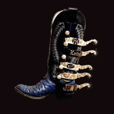 5 spurs on cowboy boot