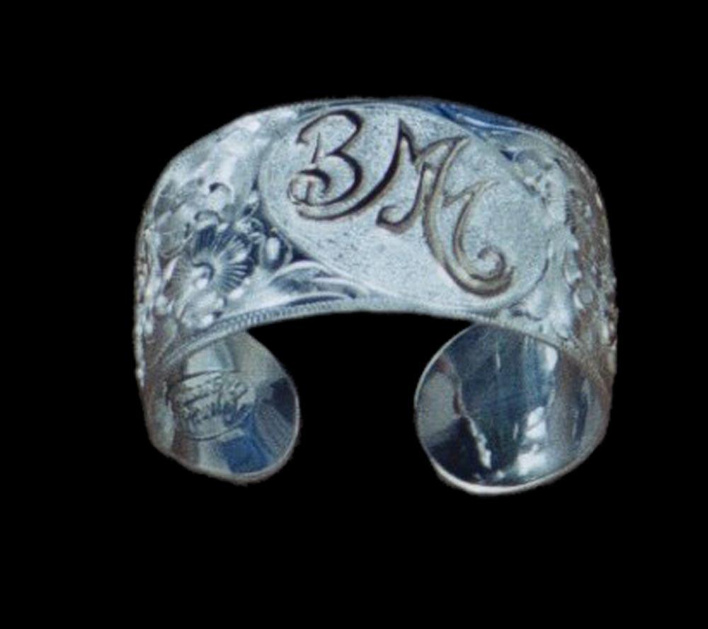 Silver Engraved Bracelet - BMM
